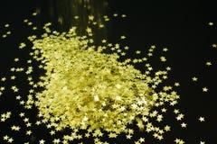 Guld- suddighetstapet för bakgrund Royaltyfri Fotografi