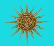 guld- sun Royaltyfri Fotografi