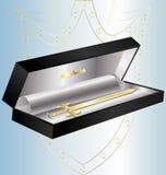 guld- svärd för gåva Royaltyfria Bilder