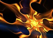 guld- swirl Arkivbilder