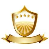 Guld- symbol Fotografering för Bildbyråer