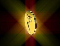 Guld- symbol av den indiska rupien royaltyfri illustrationer