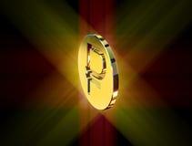 Guld- symbol av rublet Royaltyfri Fotografi