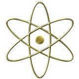 guld- symbol för atom 3d Royaltyfri Foto