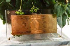 guld- symbol för dollar Arkivfoton