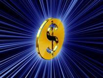 guld- symbol för dollar vektor illustrationer