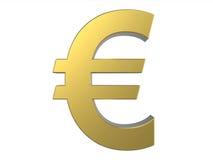 guld- symbol för euro Arkivbilder