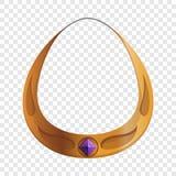 Guld- symbol för halsband för ädelstensten, tecknad filmstil vektor illustrationer