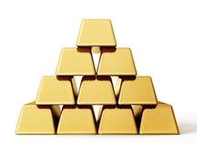 guld- tacka för bankrörelsestångguld vektor illustrationer