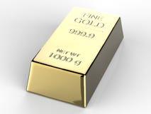 guld- tacka för bankrörelsestångguld Royaltyfri Bild
