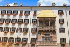 Guld- tak (Goldenes Dachl) i Innsbruck, Österrike Arkivbilder