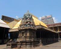 Guld- tak, Shiva Temple, Chidambaram, Tamil Nadu, Indien Royaltyfri Foto