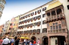 Guld- takmuseum i Innsbruck Royaltyfria Bilder