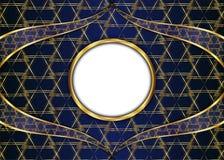 guld- tappning för bakgrund certifikat Arkivbilder
