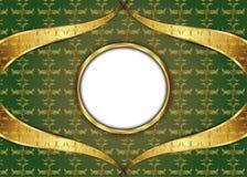 guld- tappning för bakgrund certifikat Royaltyfri Fotografi