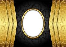 guld- tappning för bakgrund certifikat Royaltyfria Foton