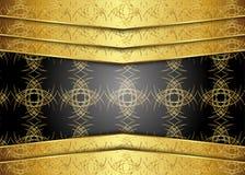 guld- tappning för bakgrund certifikat Arkivbild