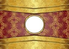 guld- tappning för bakgrund certifikat Royaltyfri Foto