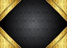 guld- tappning för bakgrund certifikat Royaltyfri Bild