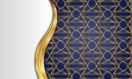 guld- tappning för bakgrund mellanrum för meddelande eller text certifikat Royaltyfria Bilder