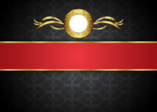 guld- tappning för bakgrund mellanrum för meddelande eller text certifikat Royaltyfri Foto
