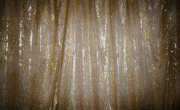 Guld- tappning för cirkeltygbakgrund royaltyfria foton