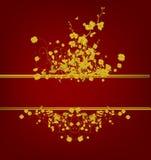 guld- tappning för design Royaltyfri Bild