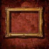guld- tappning för ram Arkivfoto