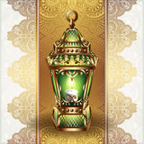 Guld- tappninglykta stock illustrationer