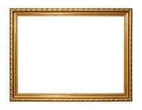 Guld- tappningram royaltyfri bild