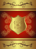 guld- tecken Royaltyfri Bild