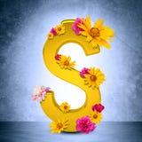 guld- tecken för dollar Fotografering för Bildbyråer