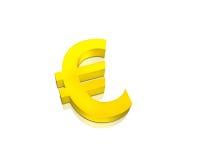 guld- tecken för euro Arkivfoto