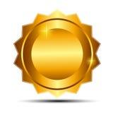 Guld- tecken för vektor, etikettmall Royaltyfria Bilder