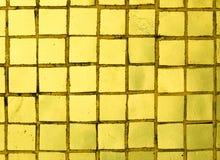 Guld- tegelplattor royaltyfria foton