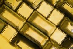 Guld- tegelstentextur Fotografering för Bildbyråer