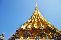 guld- tempel Fotografering för Bildbyråer