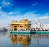 Guld- tempel, Amritsar Arkivfoto