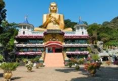 Guld- tempel av Dambulla, Sri Lanka arkivbilder