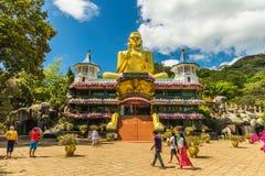 Guld- tempel Dambulla Arkivfoto