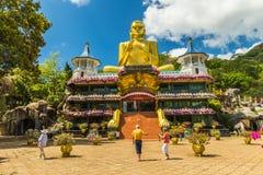 Guld- tempel Dambulla Arkivfoton