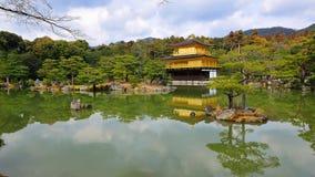 guld- tempel för jikinkakupaviljong Fotografering för Bildbyråer