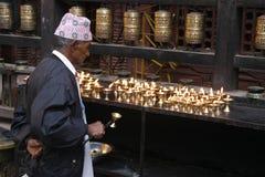 guld- tempel för troende Royaltyfria Foton