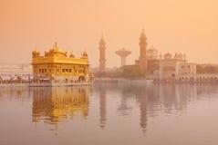 Guld- tempel i Amritsar, Punjab Royaltyfri Bild