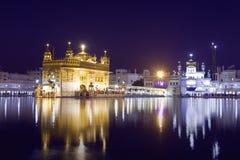 Guld- tempel i Amritsar, Punjab, Indien. Arkivbild