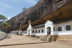 Guld- tempel i backen, Dambulla, Sri Lanka Arkivfoto