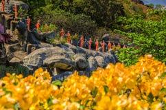 Guld- tempel i Dambulla Royaltyfri Foto