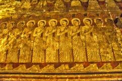 Guld- tempel i Dambulla Budda Royaltyfri Fotografi