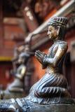Guld- tempel i Patan Royaltyfri Foto