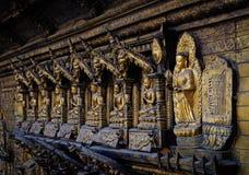 Guld- tempel i Patan, Nepal Fotografering för Bildbyråer
